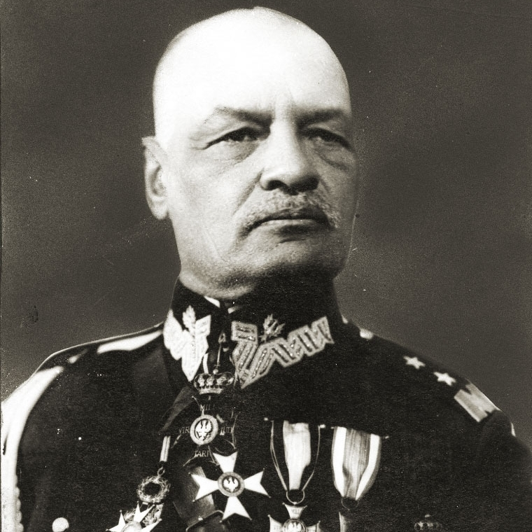 Dowódca wypadu na Koziatyn generał Jan Romer.