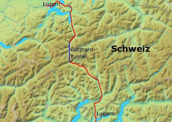 Linię kolejową, wiodącą przez przełęcz św. Gotharda, uruchomiono w 1882 roku.