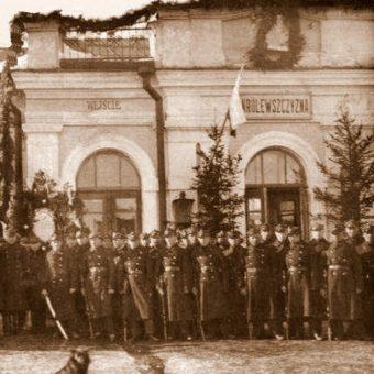 Stacja kolejowa Królewszczyzna. Zdjęcie z lat 30.