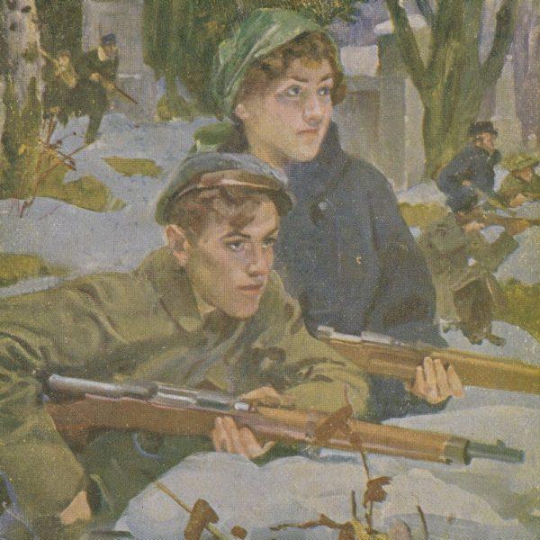 Lwowskie Orlęta. Obraz Wojciecha Kossaka.