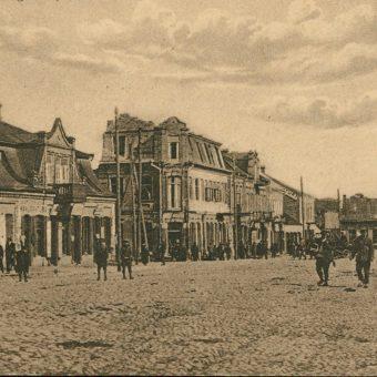 Fragment Placu 3 Maja w Pińsku. Zdjęcie z lat 20.