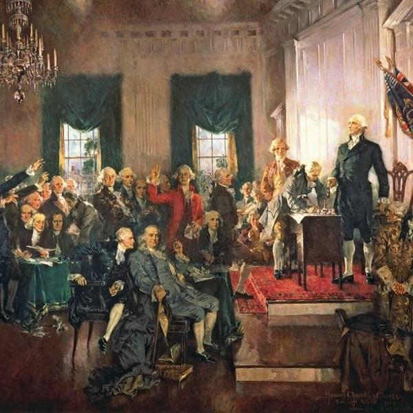 Podpisanie amerykańskiej Deklaracji Niepodległości (fot. domena publiczna)
