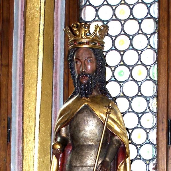 Statua Kazimierza Wielkiego z kolegiaty wiślickiej (fot. Lestat - Jan Mehlich, lic. GNU FDL)