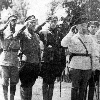 Sztab bolszewickiej 4 Armii. Lato 1920 roku.