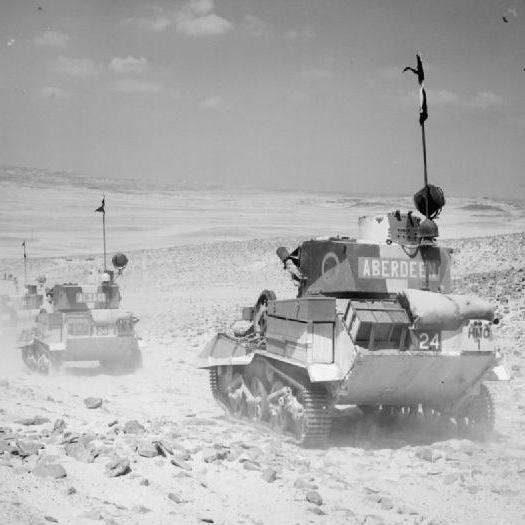 Pojazdy Armii brytyjskiej w Afryce w 1940 roku.
