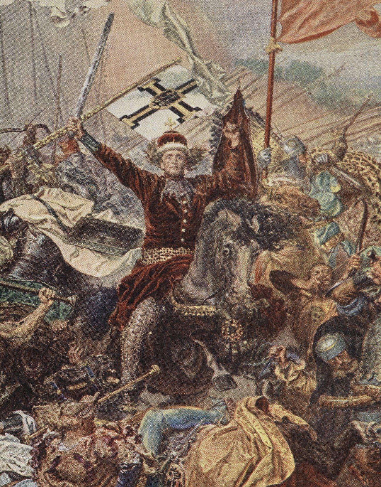 Witold dowodził rycerstwem z Wielkiego Księstwa Litewskiego oraz ruskimi, mołdawskimi i tatarskimi oddziałami sojuszniczymi. Na ilustracji fragment obrazu Jana Matejki.