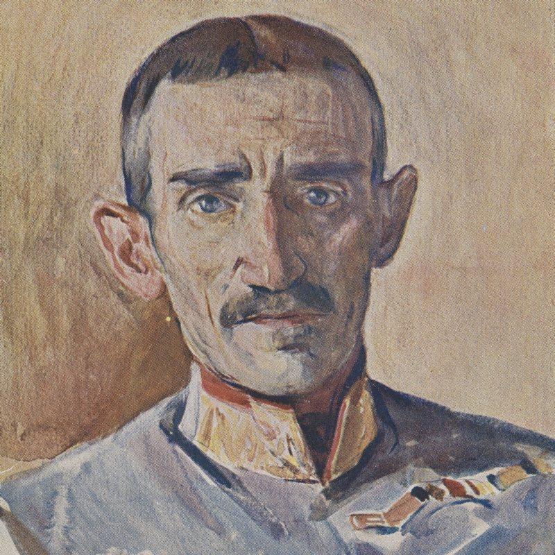 Dowódca 3 Dywizji Piechoty Legionów gen. Zygmunt Zieliński na portrecie z okresu I wojny światowej.
