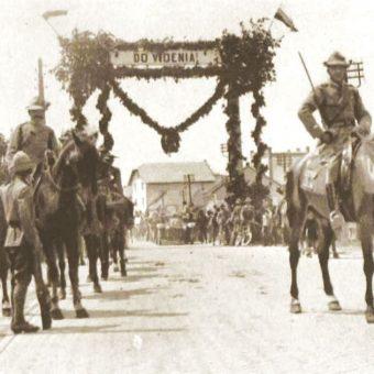 Czescy żołnierze w okresie walk o Cieszyn.