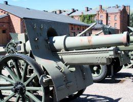 Haubica kaliber 155 minimetrów, będąca na wyposażeniu 6 Dywizjonu Artylerii Ciężkiej biorącego udział w bitwie.