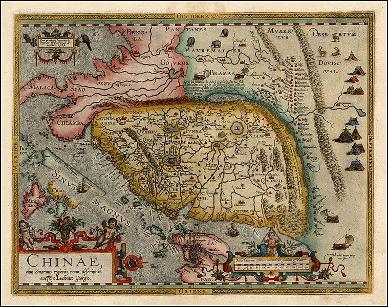 XVI-wieczna mapa Chin wykonana przez Luiza de Barbuda.