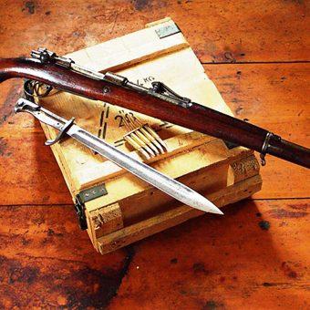 Karabiny Mausera były jednym z najczęściej używanych przez partyzantów typów broni.