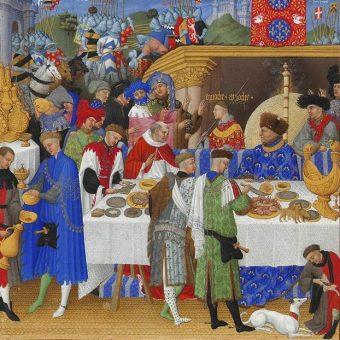 Z obiadem na zamku wiązał się cały szereg reguł odpowiedniego zachowania.