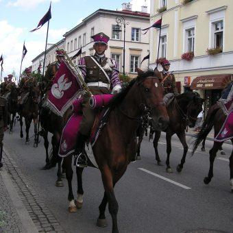 W bitwie pod Krasnobrodem brał udział między innymi 25 pułk ułanów. Na zdjęciu Szwadron Kawalerii Wojska Polskiego.