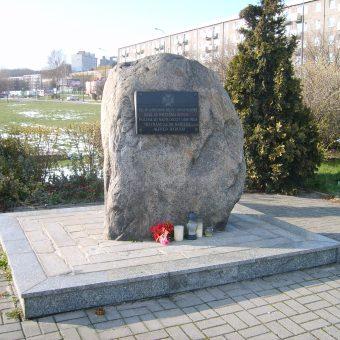 Pomnik upamiętniający Alfreda Dyducha- najmłodszego obrońcę Kempy Oksywskiej.