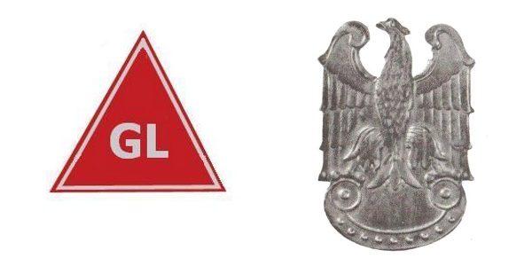 Oddział zatrzymany przez Zub-Zdanowicza należał do Gwardii Ludowej. Na ilustracji odznaka wyróżniająca członków GL i ich orzełek.
