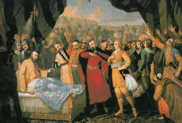 Gdy w 1621 roku doszło do ostatecznego rozstrzygnięcia losów Estonii Chodkiewicz bronił się przed Turkami pod Chocimiem. Na ilustracji obraz Franciszka Smuglewicza przedstawiający śmierć hetmana pod Chocimiem.