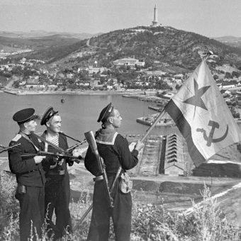 Operacja pozwoliła ZSRR zająć część Korei i Mandżurię. Zdjęcie z 1 października 1945 roku.