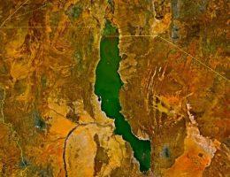 Jezioro Turkana w Kenii (fot. NASA)