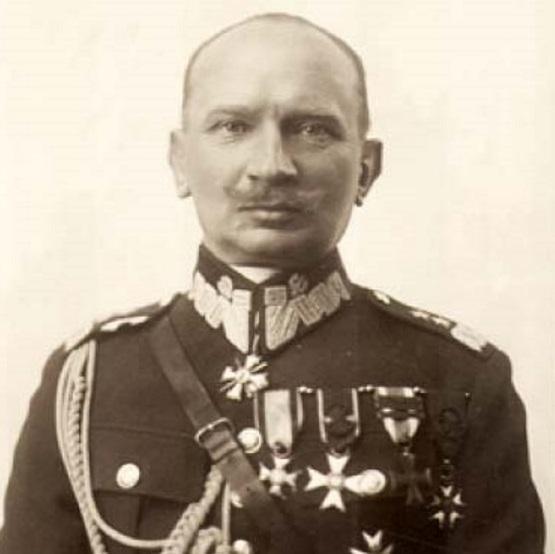 """Generał Juliusz_Rómmel (1881 - 1967), głównodowodzący Armią """"Łódź"""" podczas bitwy."""