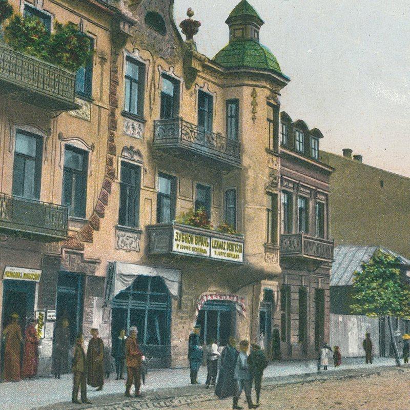 Mławski Rynek, pocztówka z początków XX wieku.