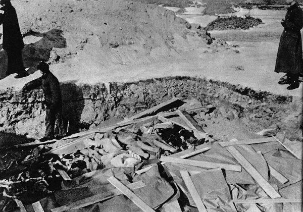 Ofiary zbrodni chowano w masowych grobach. Później miejsca kaźni próbowano zamaskować, siejąc łubin.