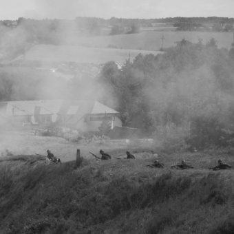 Rekonstrukcja obrony Łomży z 1920 roku.