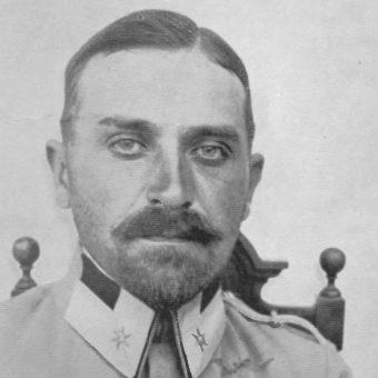 Dowódca 6 Dywizji Piechoty Ottokar Brzoza-Brzezina. Na zdjęciu w mundurze z okresu służby w Legionach Polskich.