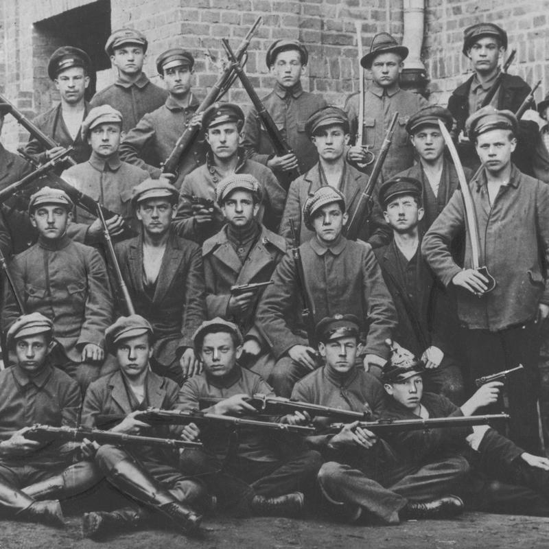 Uczestnicy III powstania śląskiego. Zdjęcie poglądowe.