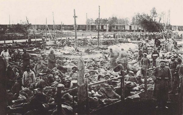 Bolszewiccy jeńcy wzięci do niewoli pod Radzyminem.