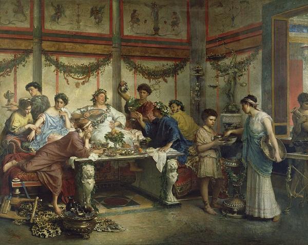 Rzymska uczta (fot. domena publiczna)