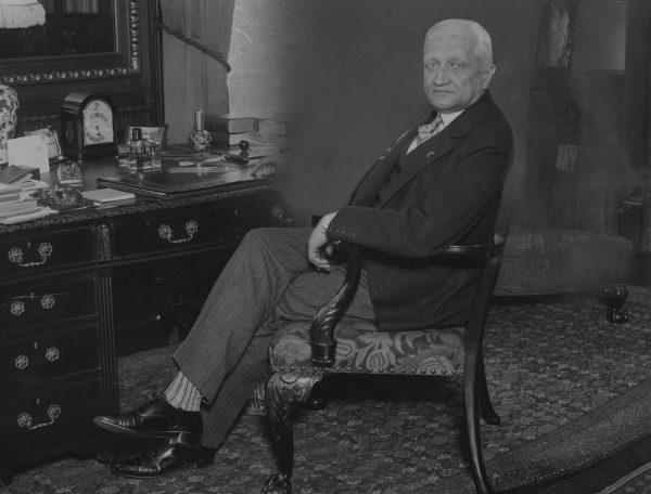 Gibson miał bardzo złe doświadczenia związane ze współpracą z polskim MSZ. Na zdjęciu Konstanty Skrimunt, który w sierpniu 1921 był ministrem spraw zagranicznych.