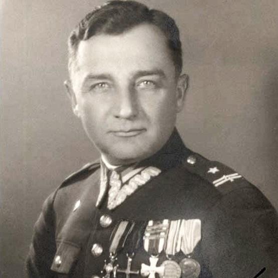 """W walkach w Lasach Przysuskich p brały udział oddziały majora Henryka Dobrzańskiego """"Hubala""""."""