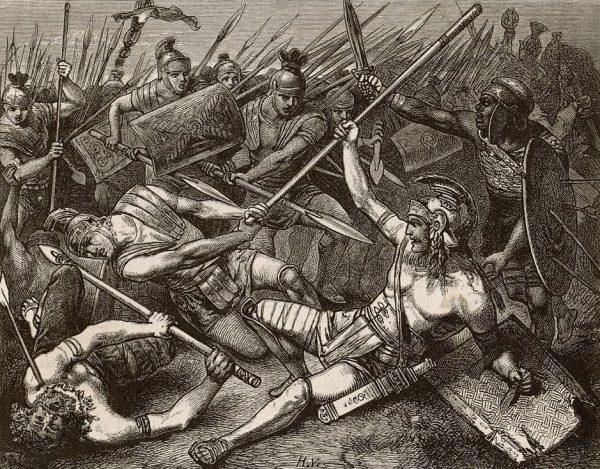 Walki z powstańcami bywały niezwykle zaciekłe. Krassus robił jednak wszystko, by zmobilizować swoich żołnierzy, ucieczkę z pola walki karząc nawet śmiercią.