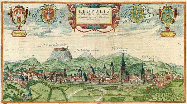 Mieszkańcy Lwowa już w średniowieczu stanowili mieszankę różnych kultur. Ilustracja z początku XVII wieku.
