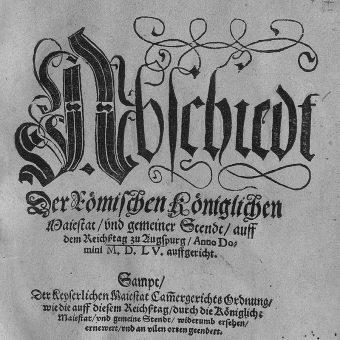 """Zawarty w Augsburgu pokój przyjmował zasadę """"czyja władza, tego religia""""."""