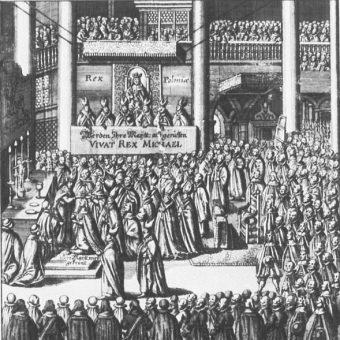 Koronacja Michała Korybuta Wiśniowieckiego odbyła się w Krakowie.