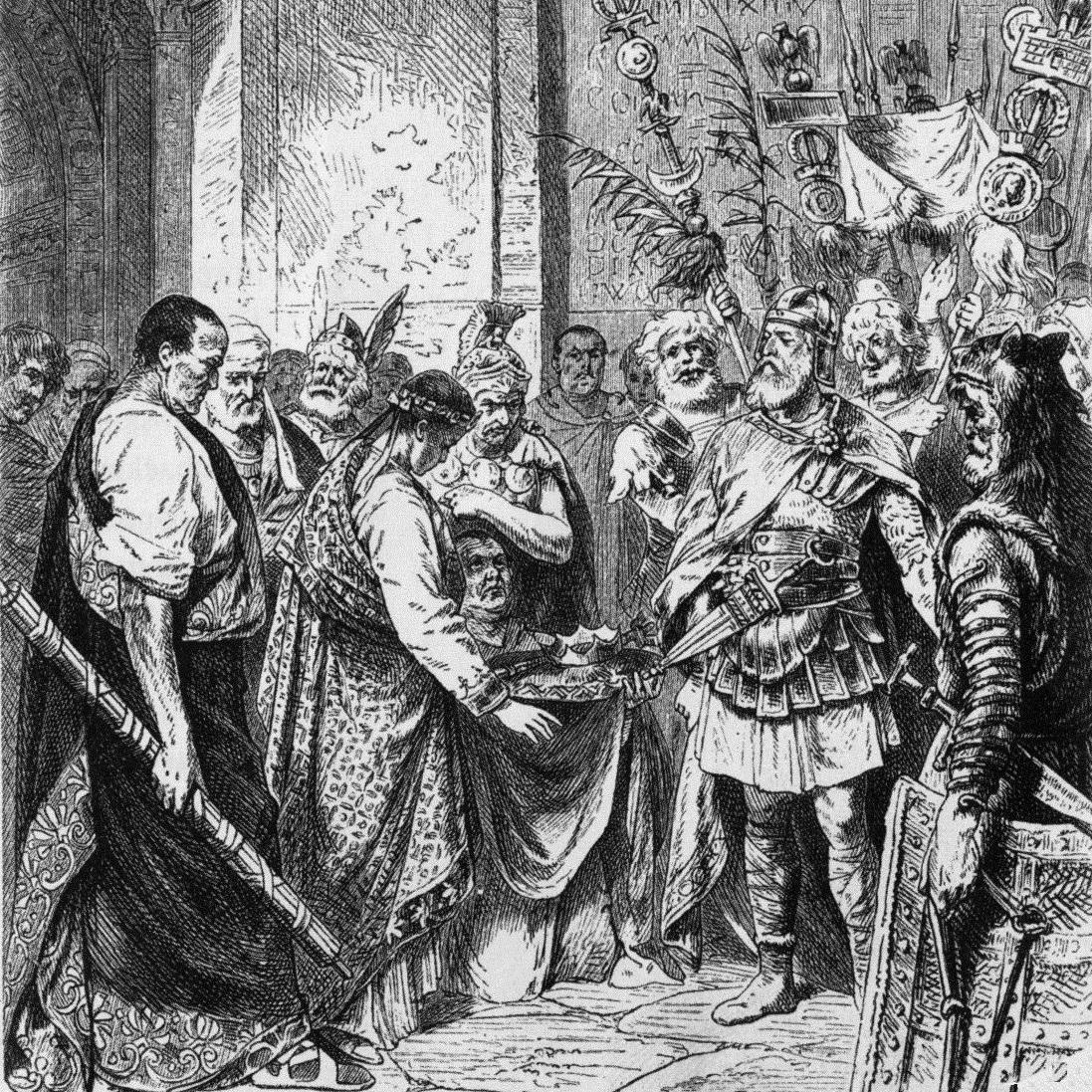Romulus Augustulus został zmuszony do abdykacji, ale zachowano go przy życiu.