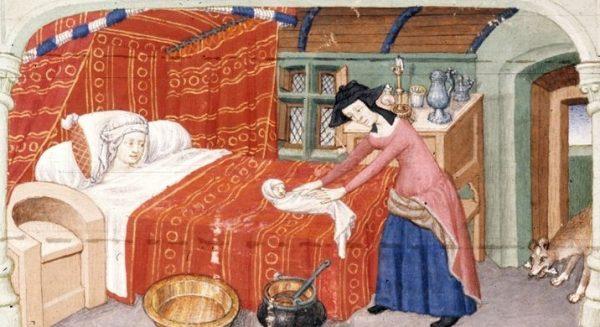 By złagodzić ból rodzących kobiet, stosowano maści i napary ziołowe.
