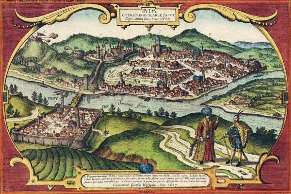 """Dla Habsburgów Węgry były jedynie """"kopalnią mięsa, tłuszczu i chleba"""". Na ilustracji XVI-wieczne przedstawienie Budy."""