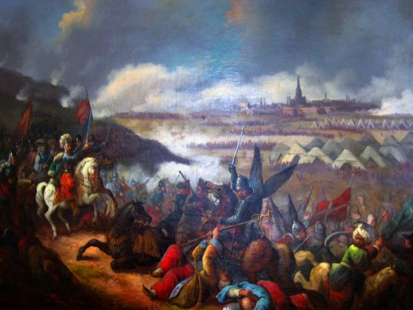 """""""Bitwa pod Wiedniem"""" obraz autorstwa Jana Damela."""