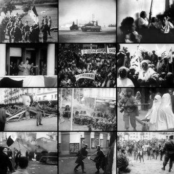 Kolaż z fotografiami z wojny algierskiej (fot. Madame Grinderche, lic. domena publiczna)