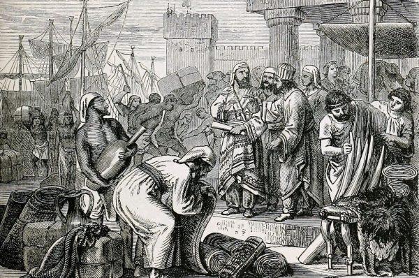 Fenicjanie mieli szczególną smykałkę do handlu.