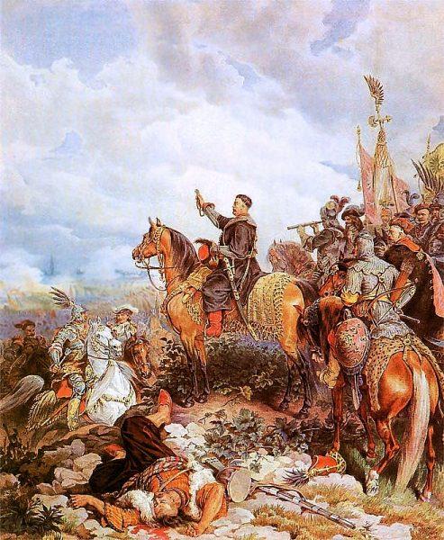 Jan III Sobieski pod Wiedniem na obrazie Juliusza Kossaka.