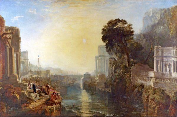 Założenie Kartaginy przypisuje się Dydonie, siostrze króla Tyru Pigmaliona. Obraz przedstawia budowę miasta.