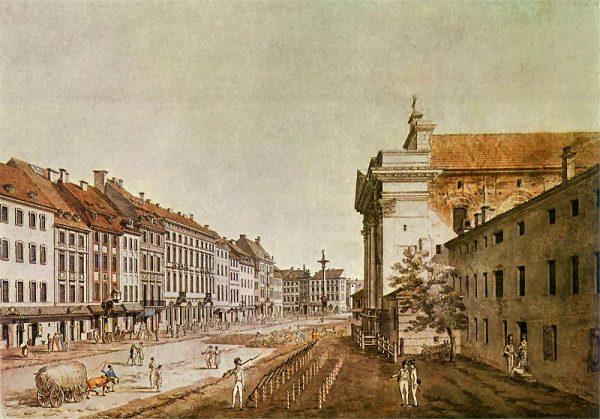 Koniunktura czasów stanisławowskich skończyła się wraz z kryzysem bankowym z 1793 roku. Na ilustracji Warszawa w ostatniej dekadzie XVIII wieku.