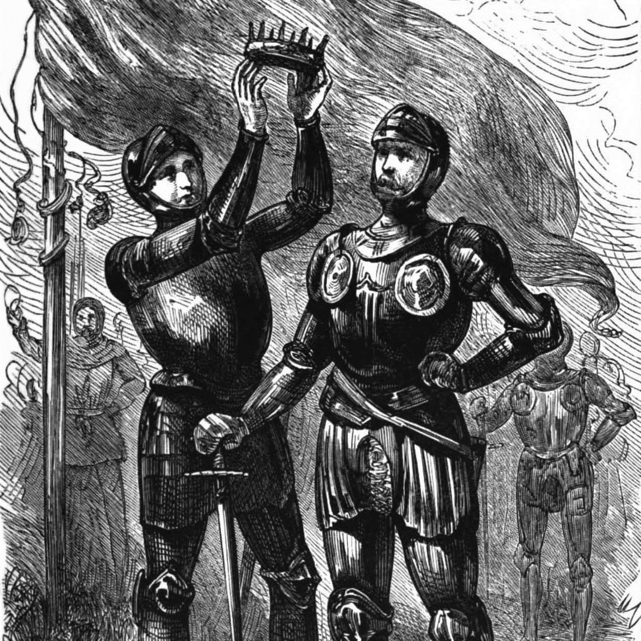Henryk VII zdobył koronę angielską dzięki zwycięstwu pod Bosworth.