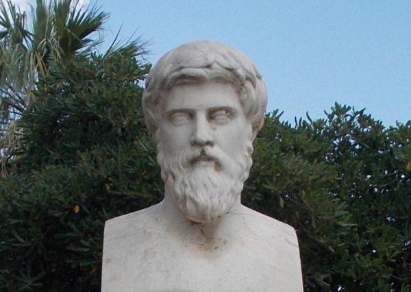 """Grecki historyk Plutarch opisał życie Katona w swoich """"Żywotach""""."""