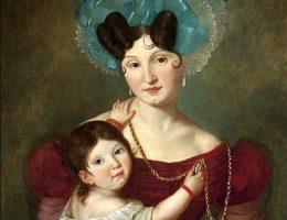 Staropolskie społeczeństwo od kobiet wymagało przede wszystkim rodzenia i wychowywania dzieci. Na obrazie Maria Anna Rawiczowa.