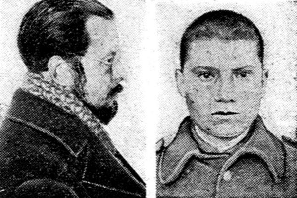 Szpiegostwo było poważnym problemem odrodzonej Polski. Na ilustracji zdjęcia Franciszka Hryhorowicza (z lewej) i Michała Godzieńca zamieszone w prasie w związku z wytoczonym im w 1929 roku procesem o szpiegostwo.