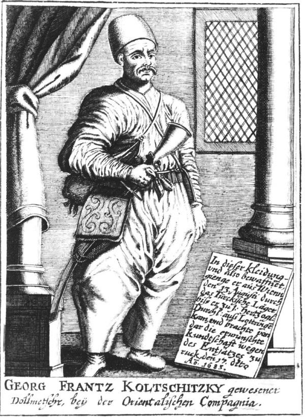 Jerzy Franciszek Kulczycki w stroju tureckim (fot. domena publiczna)